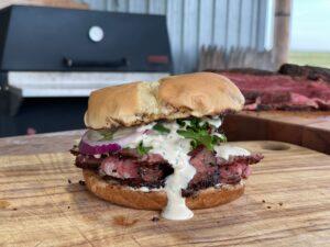 Kent Rollins Tri Tip Sandwich